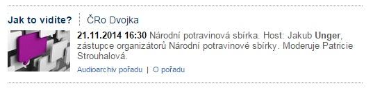 Monitoring: ČRo - Dvojka, NPS